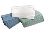 Cfold hand towels x 3600 availiable in white blue or green