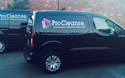 procleanse commercial cleaning vans