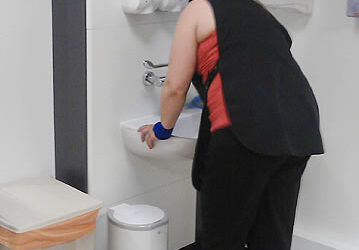 staff cleaning medical centre