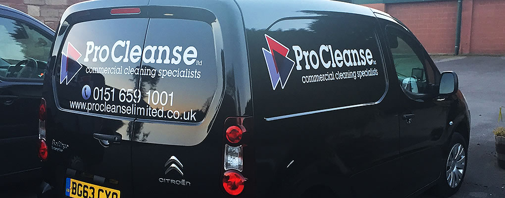 procleanse cleaning vehicle on site